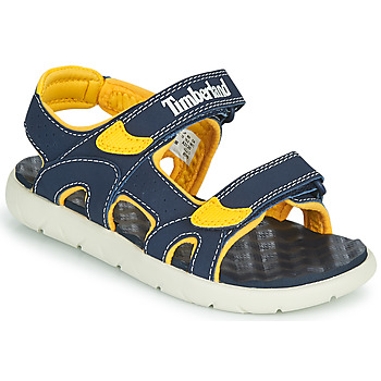 kengät Lapset Sandaalit ja avokkaat Timberland PERKINS ROW 2-STRAP Sininen / Keltainen