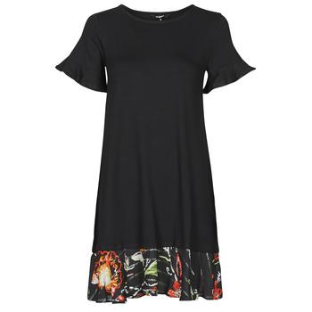 vaatteet Naiset Lyhyt mekko Desigual KALI Musta