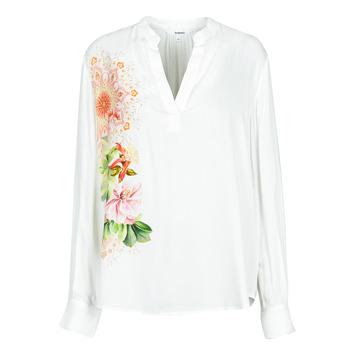 vaatteet Naiset Paitapusero / Kauluspaita Desigual TIGRIS Valkoinen