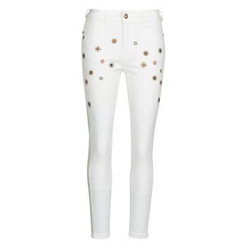 vaatteet Naiset Slim-farkut Desigual AUSTRIA Valkoinen