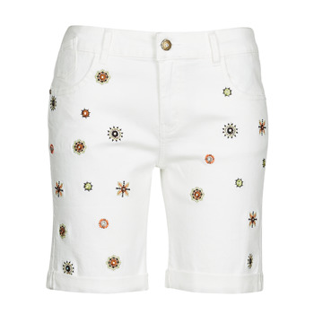 vaatteet Naiset Shortsit / Bermuda-shortsit Desigual GRECIA Valkoinen