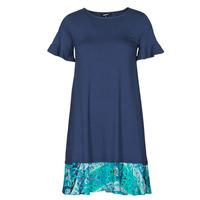 vaatteet Naiset Lyhyt mekko Desigual KALI Laivastonsininen