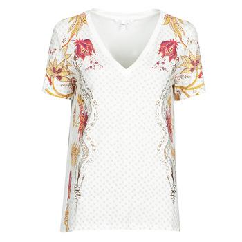 vaatteet Naiset Lyhythihainen t-paita Desigual PRAGA Valkoinen