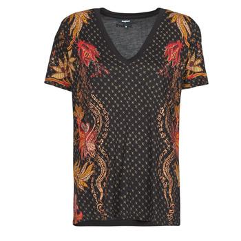 vaatteet Naiset Lyhythihainen t-paita Desigual PRAGA Musta