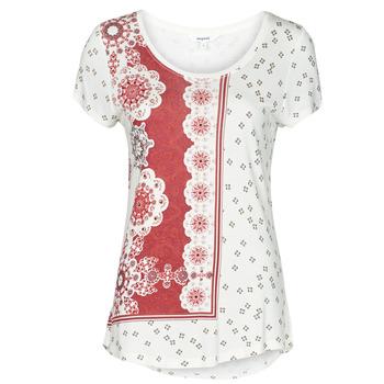 vaatteet Naiset Lyhythihainen t-paita Desigual ESTAMBUL Valkoinen