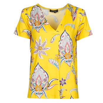 vaatteet Naiset Lyhythihainen t-paita Desigual LEMARK Keltainen
