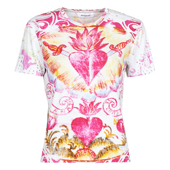 vaatteet Naiset Lyhythihainen t-paita Desigual TATTOO Monivärinen