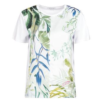 vaatteet Naiset Lyhythihainen t-paita Desigual BUDAPEST Valkoinen