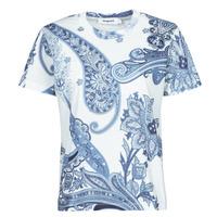 vaatteet Naiset Lyhythihainen t-paita Desigual POPASLEY Sininen