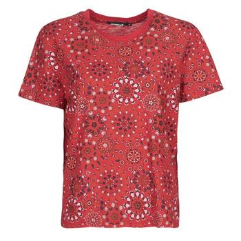 vaatteet Naiset Lyhythihainen t-paita Desigual LYON Punainen
