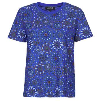vaatteet Naiset Lyhythihainen t-paita Desigual LYON Laivastonsininen