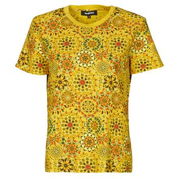 vaatteet Naiset Lyhythihainen t-paita Desigual LYON Keltainen