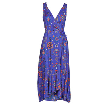 vaatteet Naiset Pitkä mekko Desigual SANTORINI Laivastonsininen