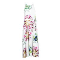 vaatteet Naiset Pitkä mekko Desigual SENA Valkoinen