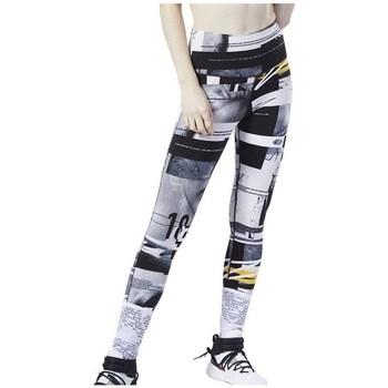 vaatteet Naiset Legginsit Reebok Sport Wor Myt Aop Valkoiset,Mustat,Harmaat