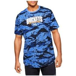 vaatteet Miehet Lyhythihainen t-paita Under Armour Baseline Verbiage Tee Vaaleansiniset, Tummansininen