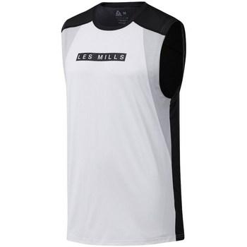 vaatteet Miehet Lyhythihainen t-paita Reebok Sport Les Mills Smartvent Valkoiset,Mustat