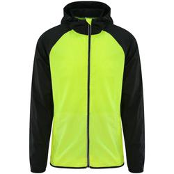 vaatteet Miehet Tuulitakit Awdis JC062 Electric Yellow/Jet Black