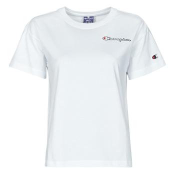 vaatteet Naiset Lyhythihainen t-paita Champion 113090 Valkoinen