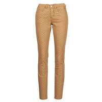 vaatteet Naiset 5-taskuiset housut Cream LOTTE PRINTED Beige