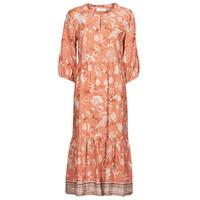 vaatteet Naiset Pitkä mekko Cream JOHUI DRESS Oranssi