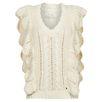 vaatteet Naiset Neulepusero Cream ANNOLINA KNIT SLOPOVER Valkoinen