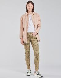 vaatteet Naiset 5-taskuiset housut Cream LOTTE PRINTED Monivärinen