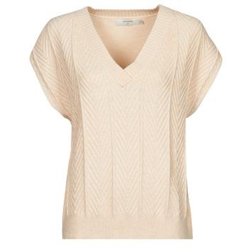 vaatteet Naiset Topit / Puserot Cream MAHIMA SLEEVELESS Beige