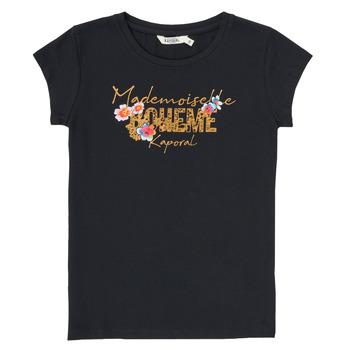 vaatteet Pojat Lyhythihainen t-paita Kaporal ELISA Musta