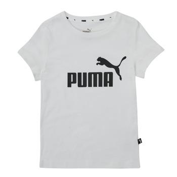 vaatteet Tytöt Lyhythihainen t-paita Puma ESS TEE Valkoinen