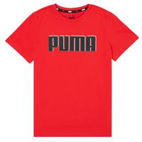 vaatteet Pojat Lyhythihainen t-paita Puma ALPHA GRAF TEE Punainen