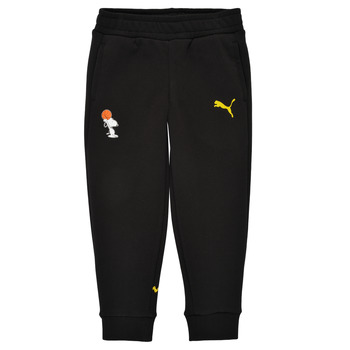 vaatteet Pojat Verryttelyhousut Puma SNOOPY PEANUTS SWEAT PANT Musta