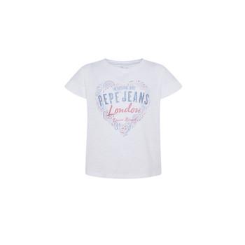 vaatteet Tytöt Lyhythihainen t-paita Pepe jeans PIPER Valkoinen