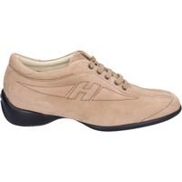 kengät Naiset Tennarit Hogan Sneakers Camoscio Beige