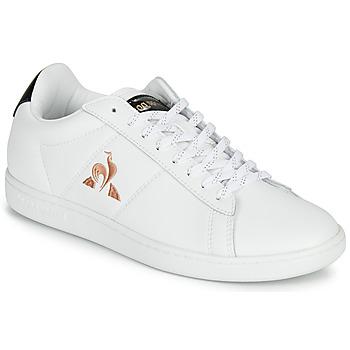 kengät Naiset Matalavartiset tennarit Le Coq Sportif COURTSET Valkoinen / Musta