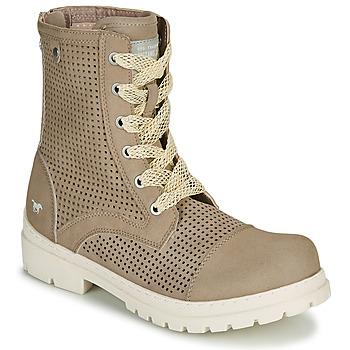 kengät Naiset Bootsit Mustang FRAPINA Beige