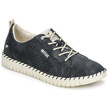 kengät Naiset Matalavartiset tennarit Mustang NINA Laivastonsininen