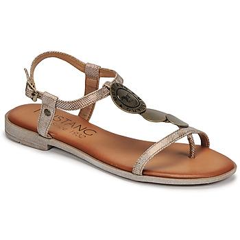 kengät Naiset Sandaalit ja avokkaat Mustang ANITTA Pronssi