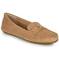 kengät Naiset Mokkasiinit Lauren Ralph Lauren BARNSBURY FLATS CASUAL Beige
