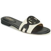 kengät Naiset Sandaalit Lauren Ralph Lauren ALEGRA Musta / Beige