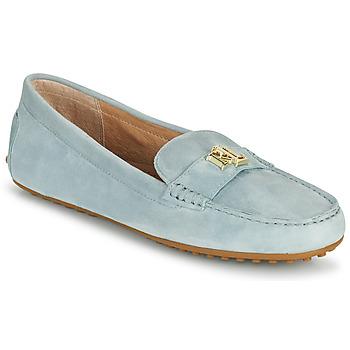 kengät Naiset Mokkasiinit Lauren Ralph Lauren BARNSBURY FLATS CASUAL Sininen / Taivaansininen
