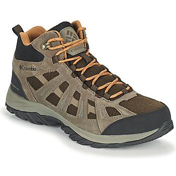 kengät Miehet Vaelluskengät Columbia REDMOND III MID WATERPROOF Ruskea