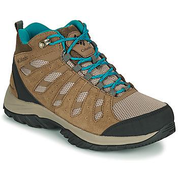 kengät Naiset Vaelluskengät Columbia REDMOND III MID WATERPROOF Beige