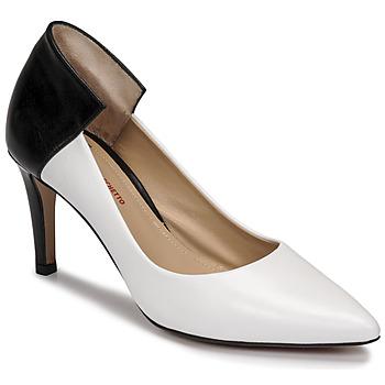 kengät Naiset Korkokengät Perlato 11764-VENUS-BLANC-JAMAICA-NOIR Valkoinen / Musta