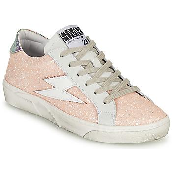 kengät Naiset Matalavartiset tennarit Semerdjian CATMI Vaaleanpunainen
