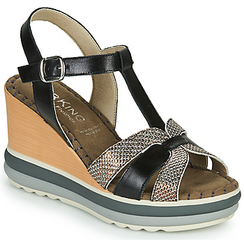 kengät Naiset Sandaalit ja avokkaat Dorking TOTEM Musta / Pronssi