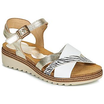 kengät Naiset Sandaalit ja avokkaat Dorking ESPE Valkoinen / Hopea