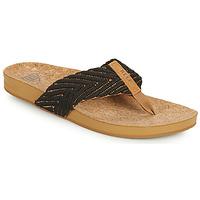 kengät Naiset Varvassandaalit Reef REEF CUSHION STRAND Musta