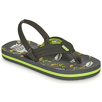 kengät Pojat Varvassandaalit Reef LITTLE AHI Harmaa