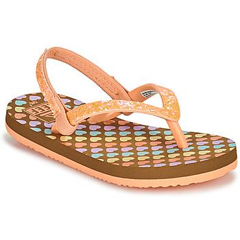 kengät Tytöt Varvassandaalit Reef LITTLE STARGAZER PRINTS Vaaleanpunainen